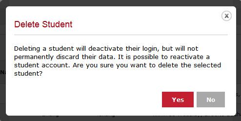 Delete Student